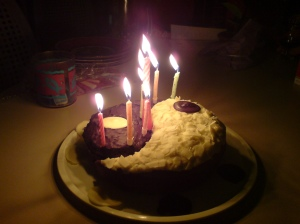 Yin Yang birthday cake