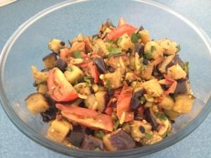 Mediterranean eggplant salad web