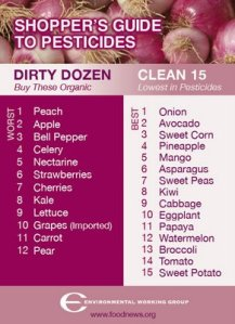 Dirty dozen foods