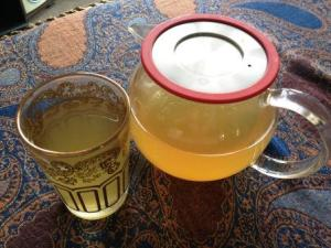 Cold & flu tea, with lemon and honey.