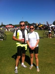 Sarah Dad cycling 2013