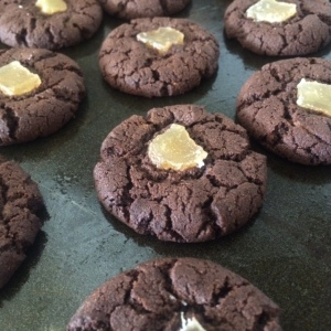 choc-chilli cookies