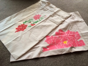 paeony pillow cases