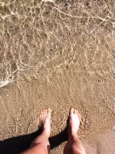 There's nothing like dipping your toes in to the ocean.